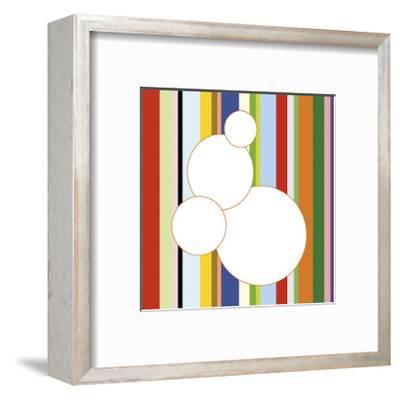 White Bubble on Stripe (detail)-Dan Bleier-Framed Giclee Print