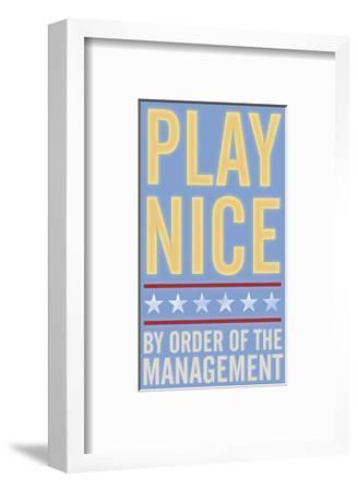 Play Nice-John Golden-Framed Giclee Print