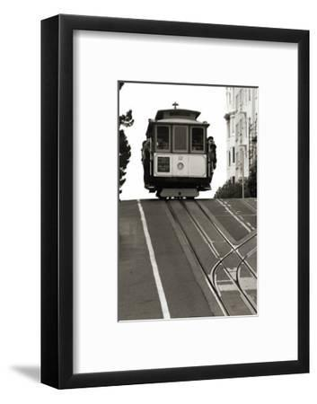 Cable Car Breaking the Crest-Christian Peacock-Framed Giclee Print