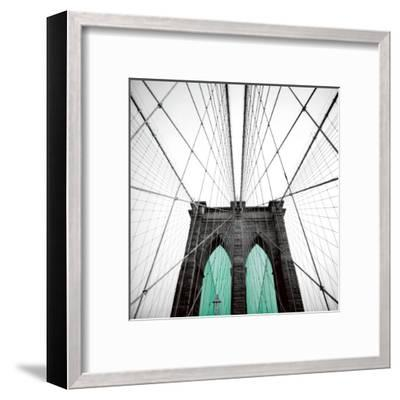BB Door Blue-Anne Valverde-Framed Art Print