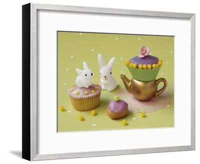 Cupcakes and Rabbits-Louis Gaillard-Framed Art Print