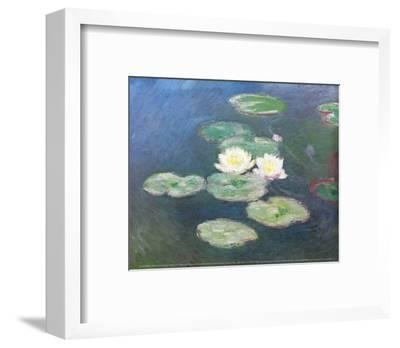 Water Lilies, Effects at the Evening-Claude Monet-Framed Art Print