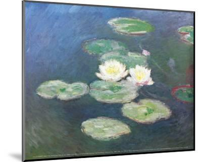 Water Lilies, Effects at the Evening-Claude Monet-Mounted Art Print