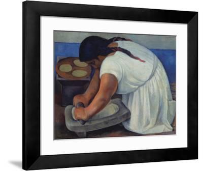 The Grinder, c.1926-Diego Rivera-Framed Art Print