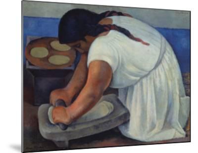 The Grinder, c.1926-Diego Rivera-Mounted Art Print