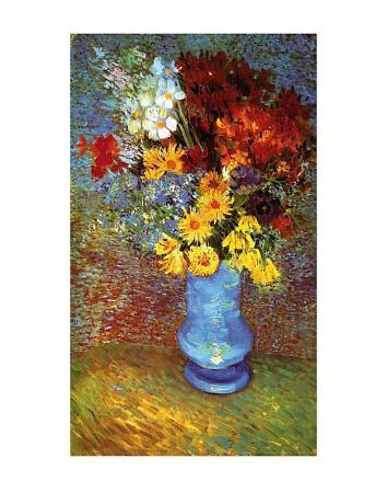 Vase with Anemone-Vincent van Gogh-Art Print
