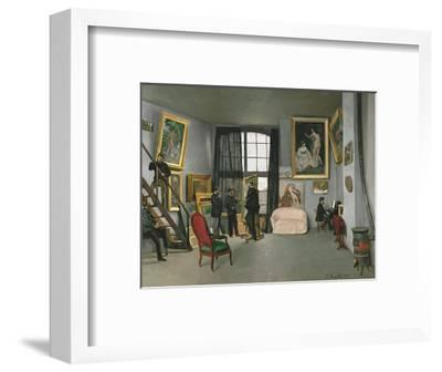 The Painter's Atelier in the Rue de la Condamine, c.1870-Frederic Bazille-Framed Art Print