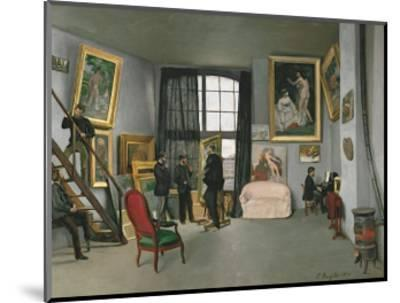 The Painter's Atelier in the Rue de la Condamine, c.1870-Frederic Bazille-Mounted Art Print