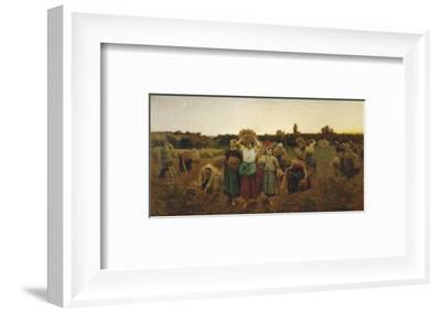 The Return of the Gleaners, c.1859-Jules Breton-Framed Art Print