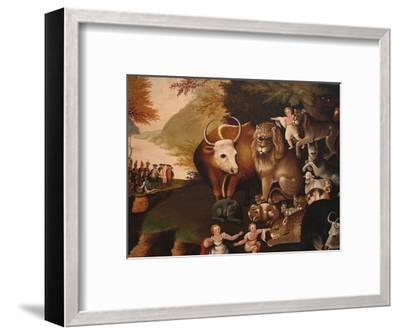 Peaceable Kingdom-Edward Hicks-Framed Art Print