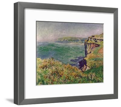 The Cliff at Varengeville, c.1882-Claude Monet-Framed Art Print