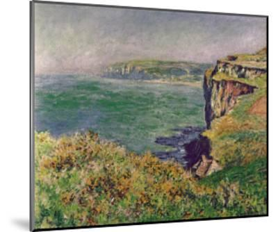 The Cliff at Varengeville, c.1882-Claude Monet-Mounted Art Print