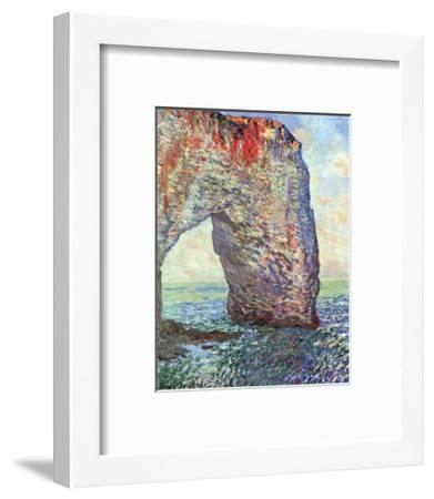 The Manneporte near Etretat, c.1886-Claude Monet-Framed Art Print
