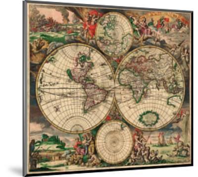 World Map, c.1689--Mounted Art Print