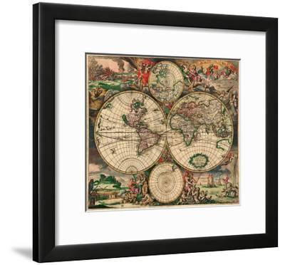 World Map, c.1689--Framed Art Print