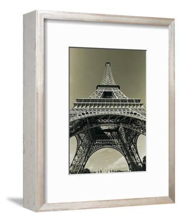 Eiffel Tower Looking Up-Christian Peacock-Framed Art Print