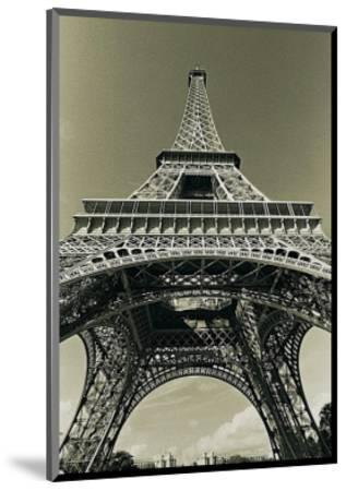 Eiffel Tower Looking Up-Christian Peacock-Mounted Art Print