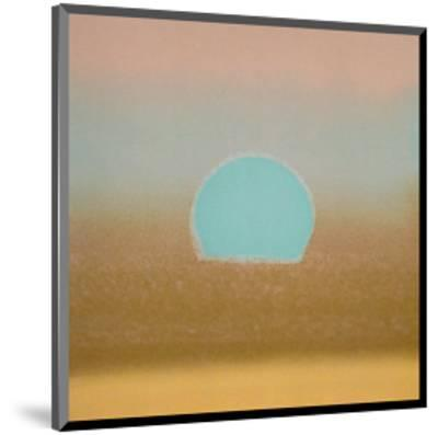 Sunset, c.1972 40/40 (gold, blue)-Andy Warhol-Mounted Art Print