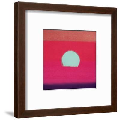 Sunset, c.1972 40/40 (fuchsia)-Andy Warhol-Framed Art Print