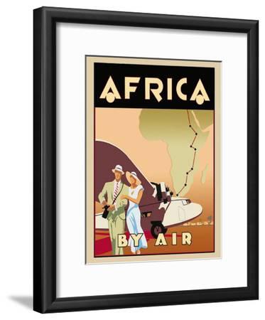 Africa by Air-Brian James-Framed Art Print