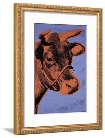 Cow, c.1971 (Purple and Orange)-Andy Warhol-Framed Art Print
