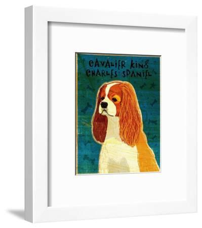 Cavalier King Charles (blenheim)-John Golden-Framed Art Print