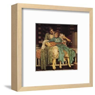 Music Lesson-Frederick Leighton-Framed Art Print