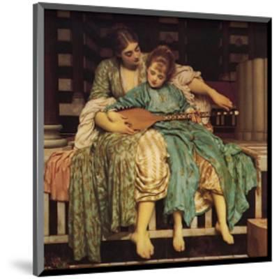Music Lesson-Frederick Leighton-Mounted Art Print