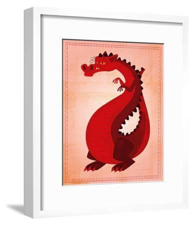 Red Dragon-John Golden-Framed Art Print