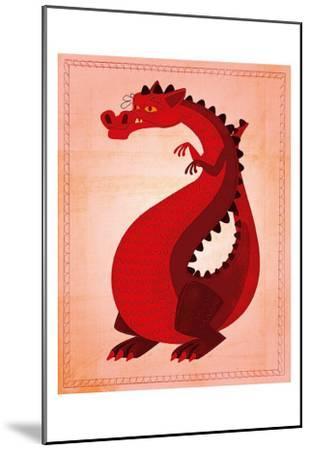 Red Dragon-John Golden-Mounted Art Print