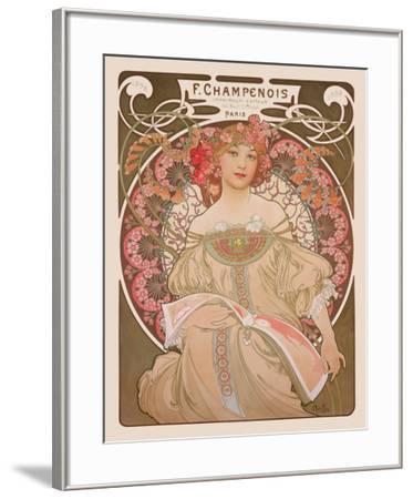 Reverie, c.1897-Alphonse Mucha-Framed Art Print