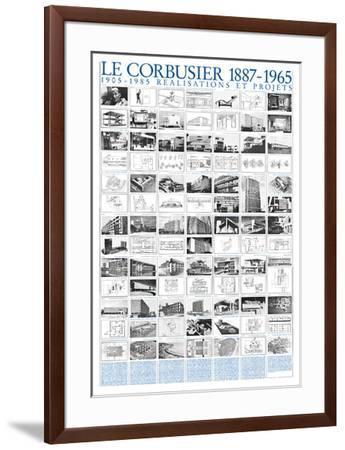 Realisations et Projets, 1905-1985-Le Corbusier-Framed Art Print