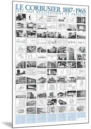 Realisations et Projets, 1905-1985-Le Corbusier-Mounted Art Print