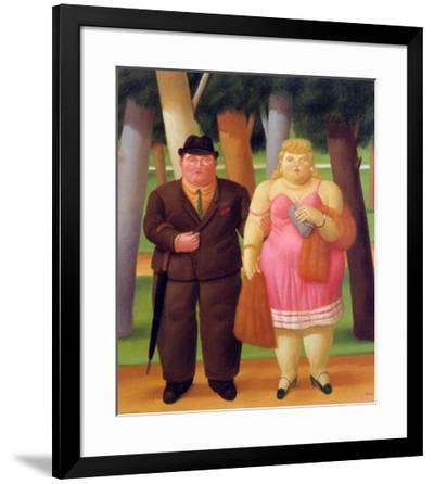 Una Coppia, 1999-Fernando Botero-Framed Art Print