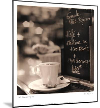 Café, Champs-Élysées-Alan Blaustein-Mounted Art Print