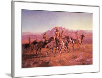 Sun River War Party-Charles Marion Russel-Framed Art Print