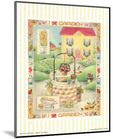 I Love Garden I-C^ Meredith-Mounted Art Print