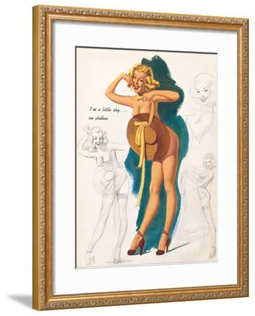 I'm A Little Shy On Clothes-Elliott Freeman-Framed Giclee Print