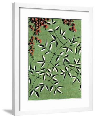 Leaves and Berries Kimono Design--Framed Giclee Print