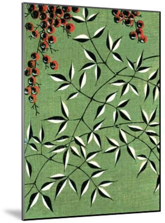 Leaves and Berries Kimono Design--Mounted Giclee Print