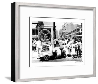 Pretzel Vendor, Brooklyn, New York, c.1956--Framed Art Print