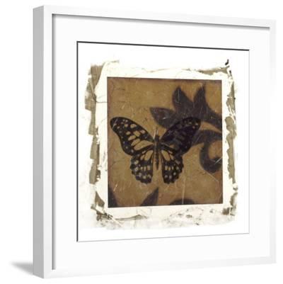 Embellished Scroll Nine Patch II-Jennifer Goldberger-Framed Giclee Print