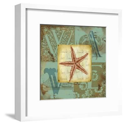 Sand and Surf II-Jane Maday-Framed Art Print
