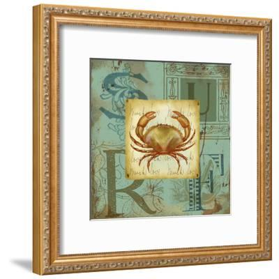 Sand and Surf III-Jane Maday-Framed Art Print
