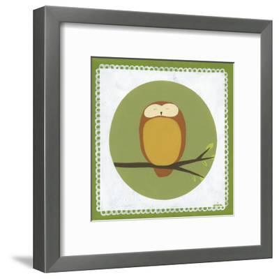 Owl Cameo I-Erica J^ Vess-Framed Art Print