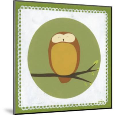 Owl Cameo I-Erica J^ Vess-Mounted Art Print