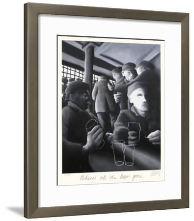 Where's All the Beer Gone-Mackenzie Thorpe-Framed Collectable Print