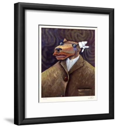 Coyote Portrait of Van Gogh-Markus Pierson-Framed Limited Edition