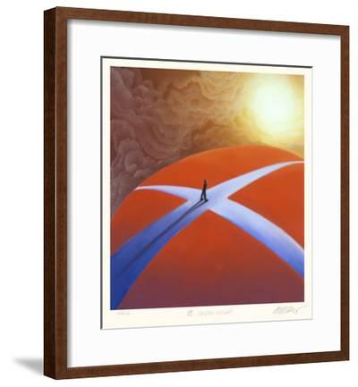 A Crossroads-Mackenzie Thorpe-Framed Collectable Print