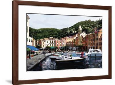 Sunrise Over Portofino-Bill Saunders-Framed Art Print
